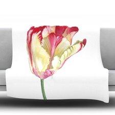Red Tip Tulip Throw Blanket