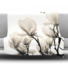 Magnolia Blossoms Fleece Throw Blanket