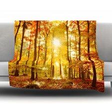 Sun Flooded Fleece Throw Blanket