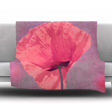 Poppy Fleece Throw Blanket