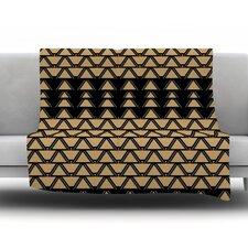 Deco Angles Gold Black Throw Blanket