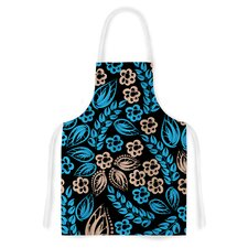 Blue Flowers Artistic Apron