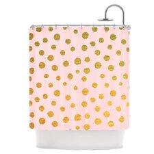 Golden Dots Shower Curtain
