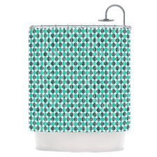 Distressed Circles Shower Curtain