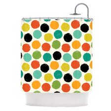 Retro Dots Repeat Shower Curtain