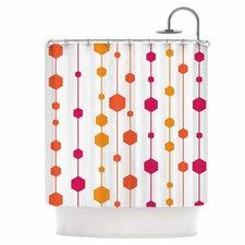 Warm Dots Shower Curtain