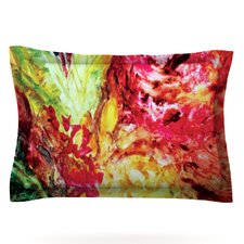 Passion Flowers I by Mary Bateman Featherweight Pillow Sham