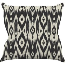 Tribal Ikat by Amanda Lane Dark Throw Pillow