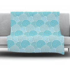 Ocean Swirl by Nick Atkinson Fleece Throw Blanket