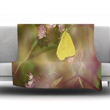 Butterfly Kisses by Robin Dickinson Fleece Throw Blanket