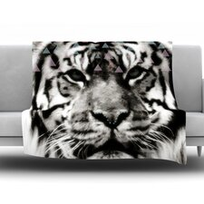 Tiger Face by Suzanne Carter Fleece Throw Blanket