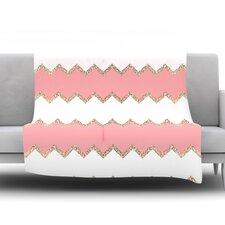 Avalon Chevron by Monika Strigel Fleece Throw Blanket