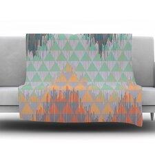 Ikat Geometrie by Nika Martinez Fleece Throw Blanket
