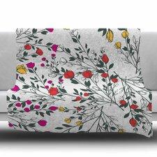 Rose Blossom Garden Throw Blanket