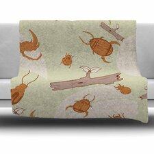 Beetles Fleece Throw Blanket