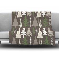 Happy Forest Fleece Throw Blanket