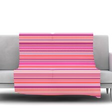 Pink Ribbons Fleece Throw Blanket