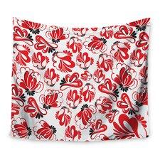 Red Flowers by Maria Bazarova Tapestry