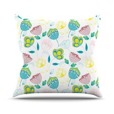 Indie Floral Throw Pillow