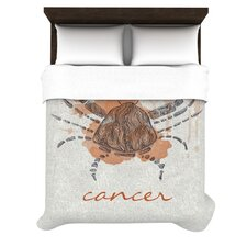 Cancer by Belinda Gillies Woven Duvet Cover