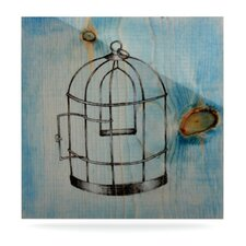 Bird Cage by Brittany Guarino Painting Print Plaque
