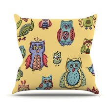 Owls by Brienne Jepkema Throw Pillow