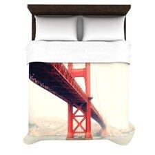 Golden Gate by Bree Madden Woven Duvet Cover