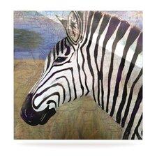 Zebransky by Catherine Holcombe Graphic Art Plaque