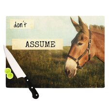 Don't Assume Cutting Board