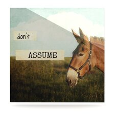 Don't Assume by Catherine McDonald Photographic Print Plaque