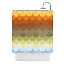 Half Circles Waves Shower Curtain