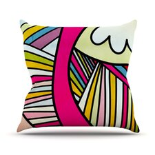 Fake Colors Outdoor Throw Pillow