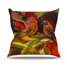 Mirrored in Nature by Kristin Humphrey Throw Pillow