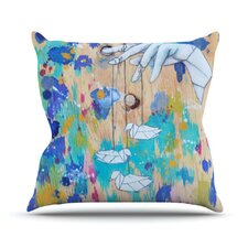 Origami Strings by Kira Crees Throw Pillow