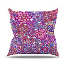 My Happy Flowers by Julia Grifol Throw Pillow