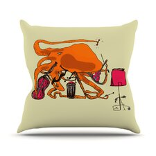 Playful Octopus by Marianna Tankelevich Throw Pillow