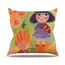 Flowerland by Marianna Tankelevich Throw Pillow