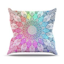 Rainbow Dots by Monika Strigel Throw Pillow