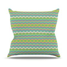 Chevron Love by Nicole Ketchum Throw Pillow