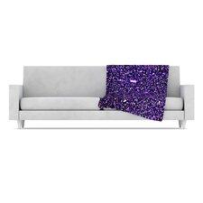 Purple Dots Fleece Throw Blanket