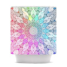 Rainbow Dots Shower Curtain