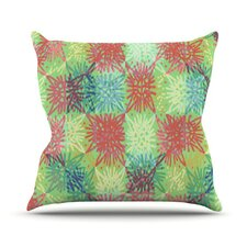 Multi Lacy by Laura Nicholson Throw Pillow