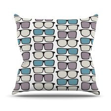 Spectacles Geek Chic by Michelle Drew Throw Pillow