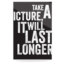 Take a Picture by Original Textual Art Plaque