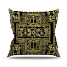 Golden Art Deco by Nika Martinez Throw Pillow