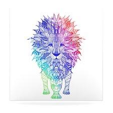 Rainbow Lion by Monika Strigel Graphic Art Plaque