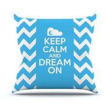 Keep Calm by Nick Atkinson Throw Pillow
