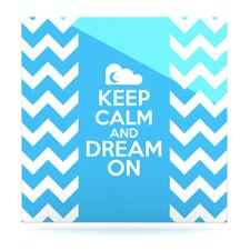 Keep Calm by Nick Atkinson Graphic Art Plaque