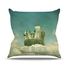 Never Stop Exploring by Monika Strigel Throw Pillow