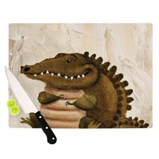 Smiley Crocodiley Cutting Board